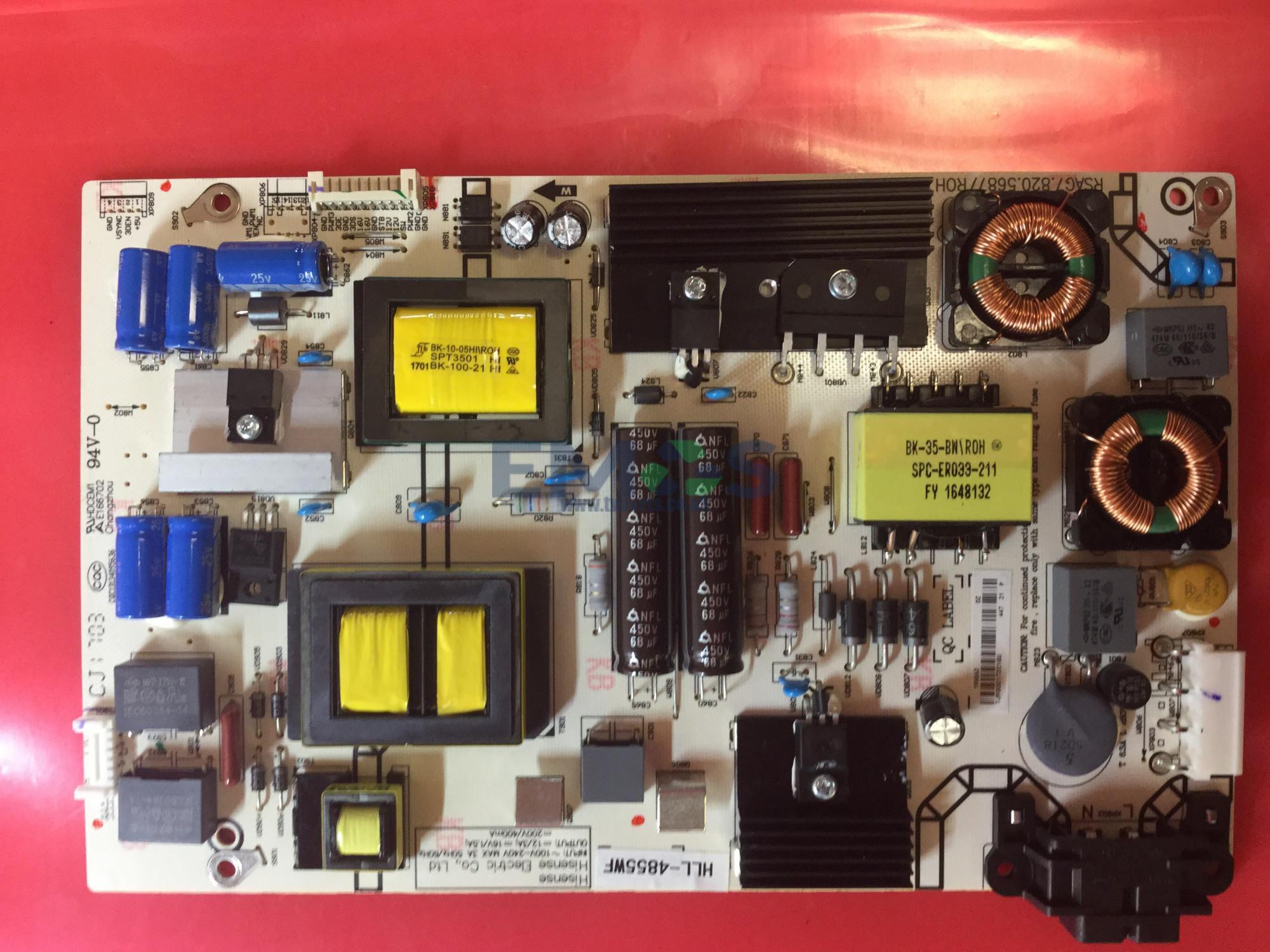 HLL-4855WF RSAG7 820 5687/ROH POWER SUPPLY FOR HISENSE H50M3300